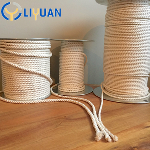 Factory price braided cotton macrame rope