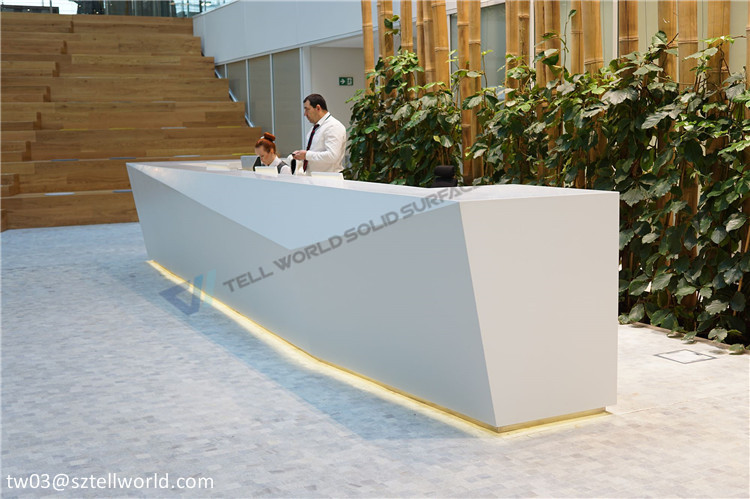 2017 modern special unique reception desk