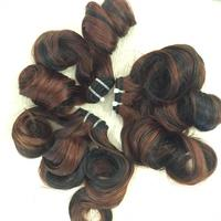 Highlight color Funmi curly human hair, Live Hair Vietnam factory wholesale hair attachment for Wigs