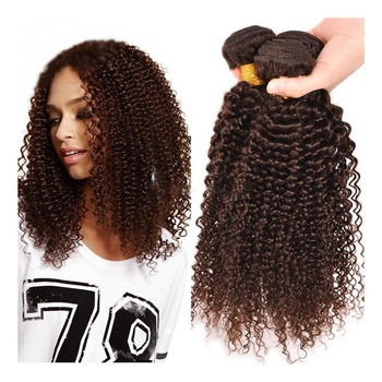 Majik Human Hair Curly Weft Hair Styles For Girls And Women (Dark Brown)