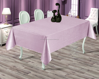 100% Polyester Gofra Plain Style Table Cloth Best Price Woven Jacquard Waterproof Tablecloth Table Cover Different Size