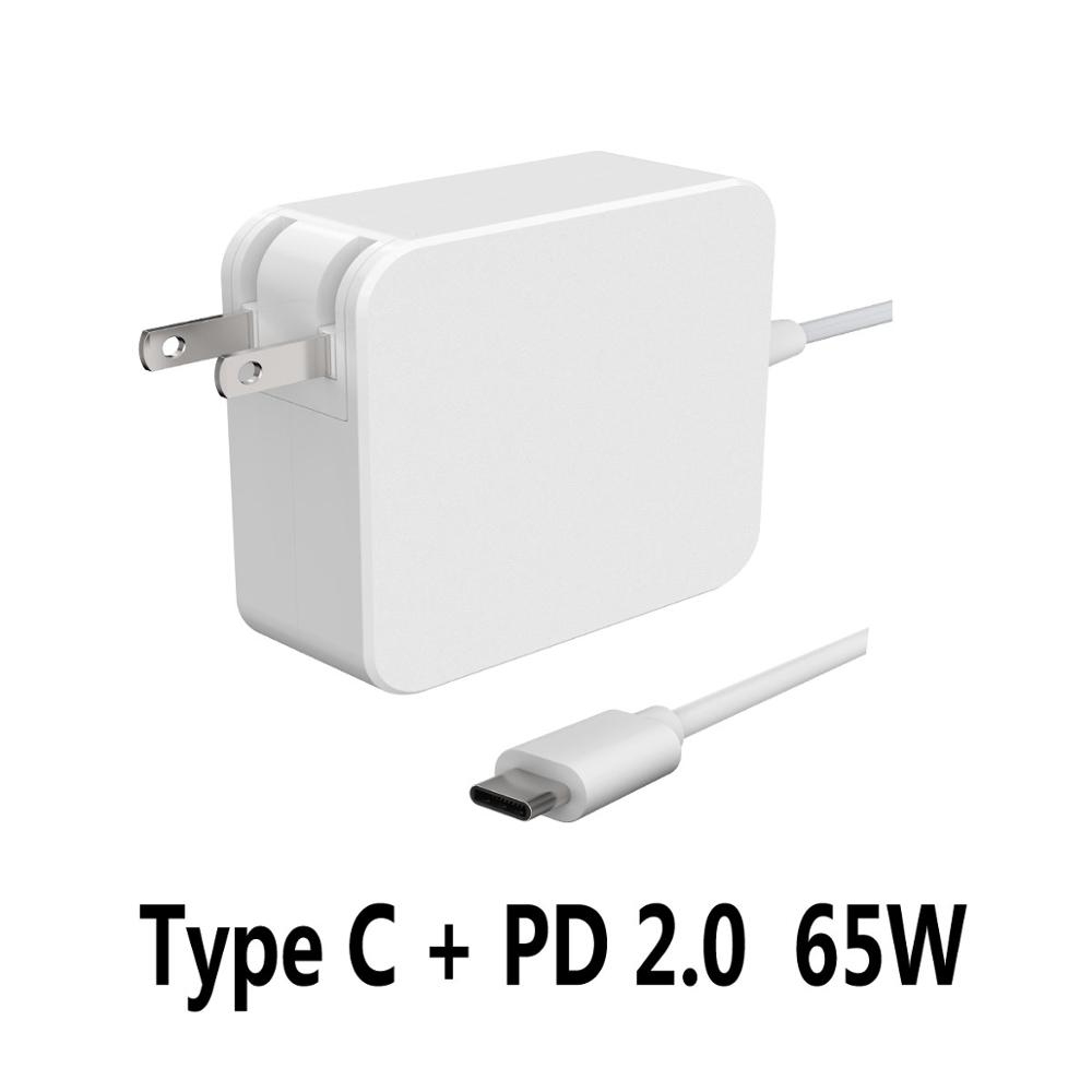 65W PD Type c charger Wall Charger for Apple MacBook/iPhone X/8 Plus For macbook charger Type C PD Charger