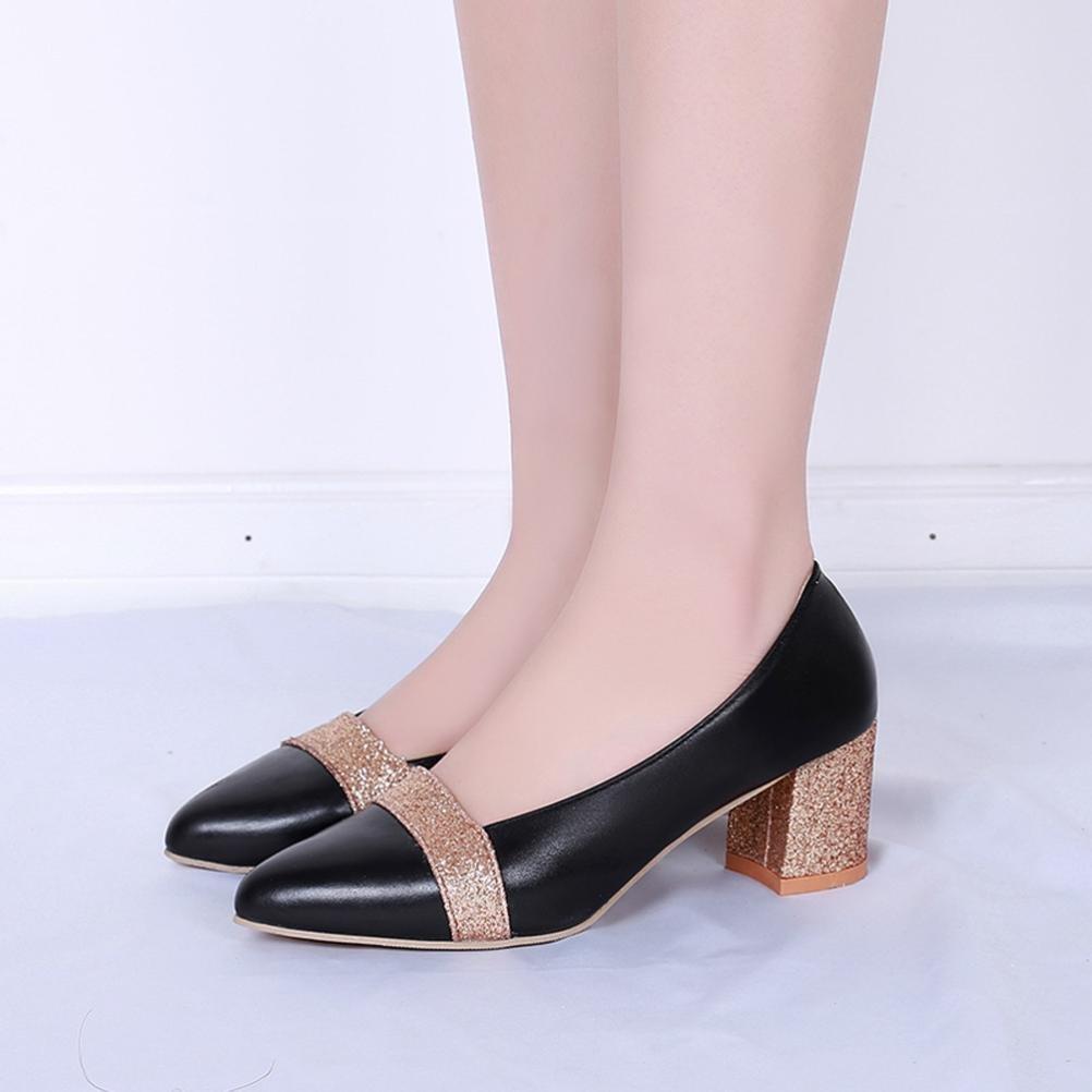 5edae16b039 Get Quotations · Women Ladies Mid Heel Shoes Wedge Sandals Shoes Wedding  Shoes Office Shoes Hoof Heels Shoes Hemlock