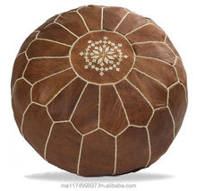 Stunning Moroccan 100% GENUINE Leather Ottoman Poufs