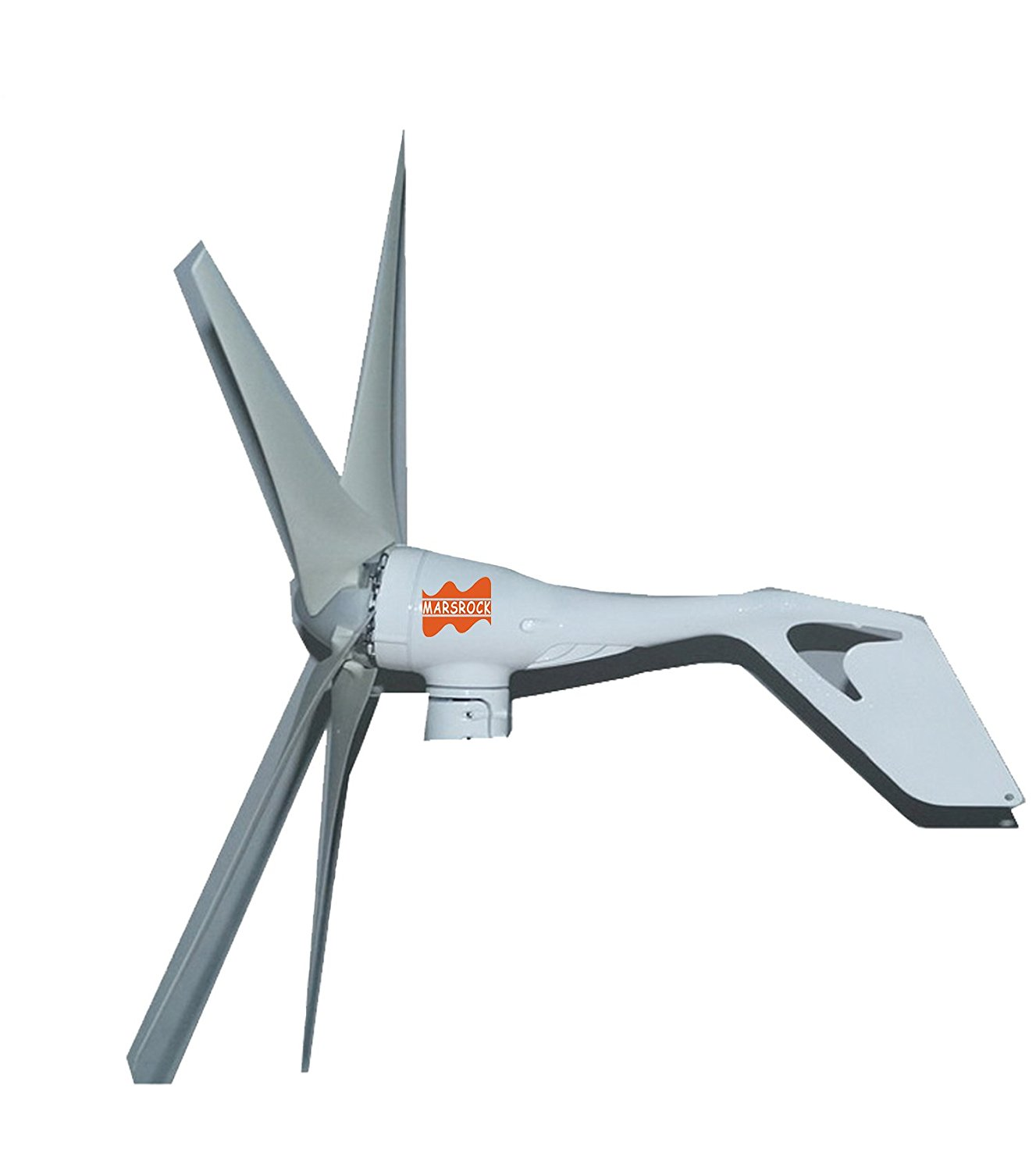 MarsRock Mini Wind Turbine DC 12V or 24V 3 Blades 400W 300W Wind Turbine Generator with built-in Rectifier module , 2M/S Start Wind Speed (100W)