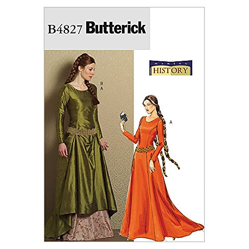 1262da0076 Butterick Ladies Sewing Pattern 4827 Historical Costume Medieval Dress    Belt
