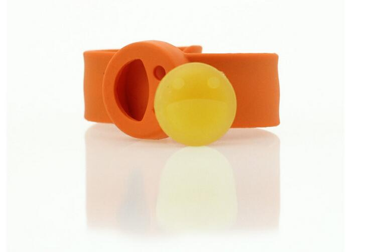 Outdoor Eco-friendly Silicone Anti-mosquito snap bracelet Wholesale