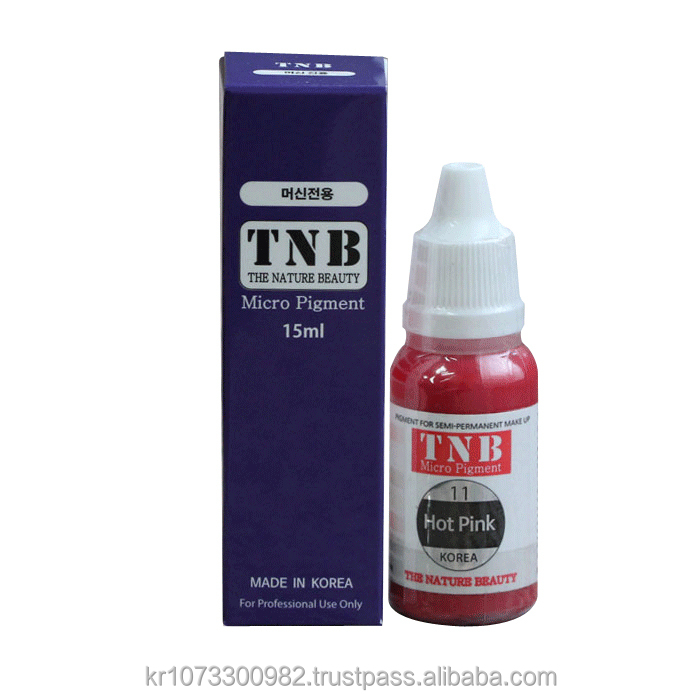 Tnb Micro Pigment 11.hot Pink Color For Semi Permanent Make Up Of  Lip,Areola In Korean Maker (model Number : Tnb-m011) - Buy Pigment Color  For ...