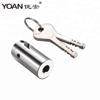 high security brass key stainless steel cylinder disc lock for vending machine dispenser automat self-service equipment