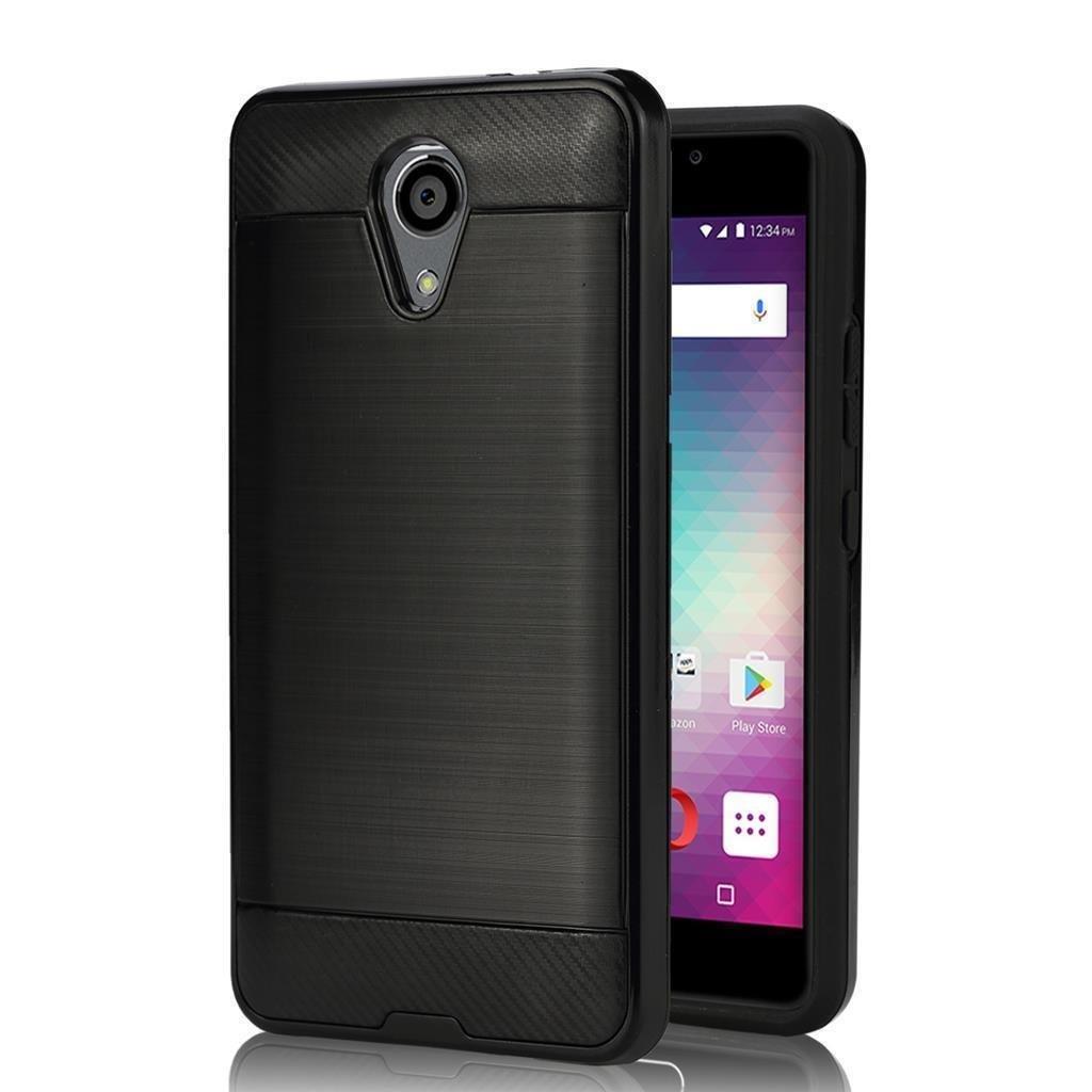 BLU Life One X2 Case, [Anti Scratch][Drop Proof][Shock Absorption][Hybrid] TPU + PC Cover Case for BLU Life One X2 L0090UU (Black)