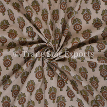 Indian Ethic Buti Printed Cotton Voile For Dress Making Material 100% Cotton Fabric By Yard