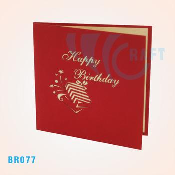 Birthday Cake 3d Popup Card Buy 3d Pop Up Paper Cardpop Up Card
