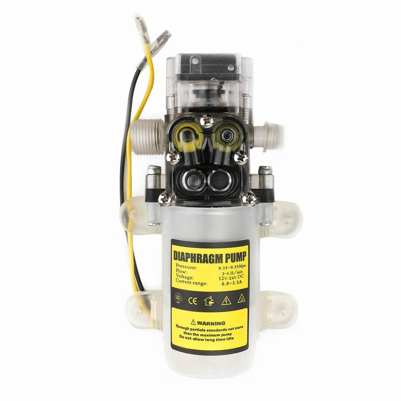 EnPoint™ Automatic Water High Pressure Diaphragm Pump Self Priming 12V DC 60W 4.2L/Min 0.65Mpa 80PSI 50M Head Sprayer Pump for Caravan Camper Lawn RV Marine Boat Plant-Watering Car Washing