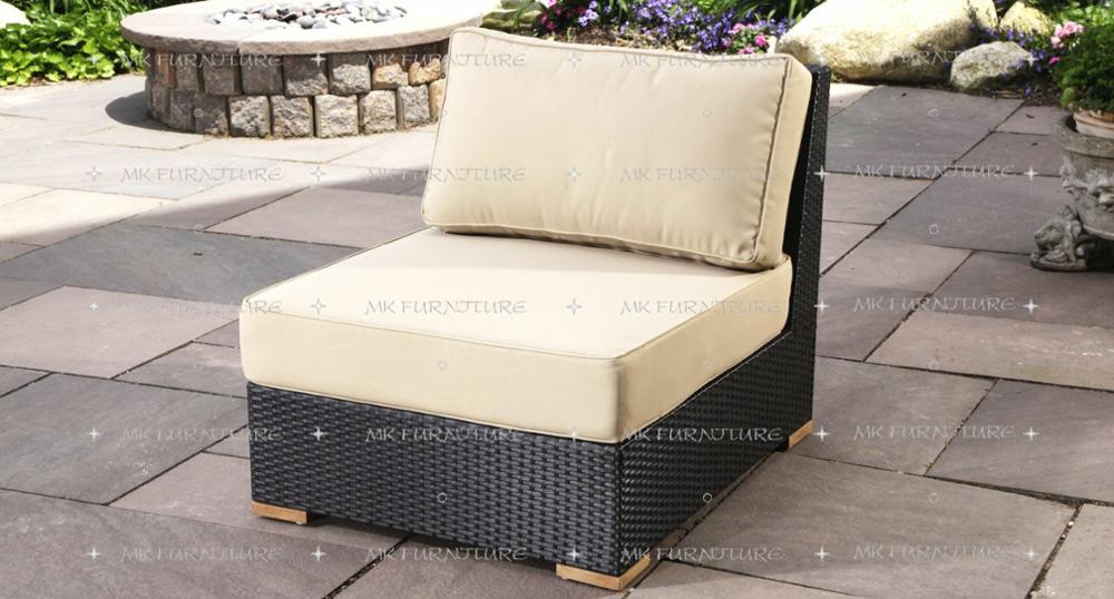 Rattan Garden Furniture L Shape resin wicker synthetic rattan sofa set furniture - sectional l