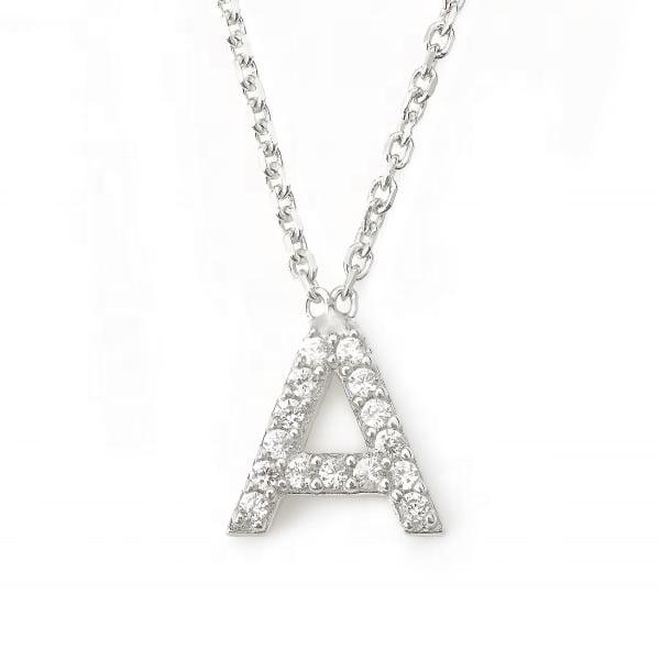 01d22909c0da LOZRUNVE de Jewelllery 925 de plata alfabeto carta inicial collar de la  joyería