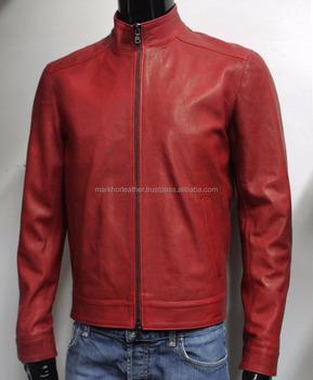 3d7790cf3 Handmade Men Soft Genuine Lambskin Leather Bomber Jacket Color Black ...