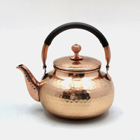 Decorative Solid Copper Serving Tea Pot
