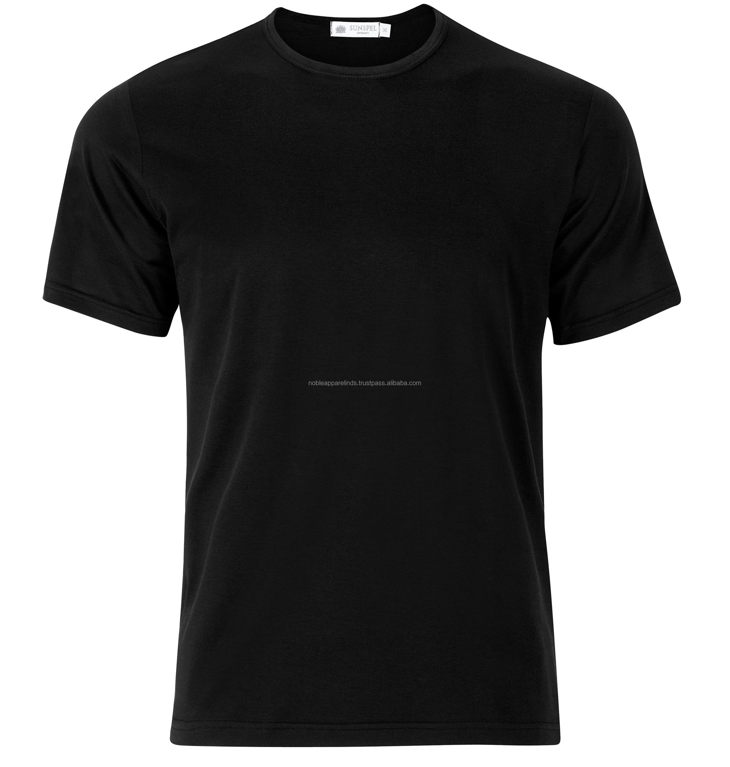 service high quality dark black slim fit custom bamboo cotton t shirts nice pain deign nice color t shirts for men