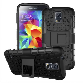 cheap price Shockproof Case Heavy Duty Rugged Dual Layer TPU Textured Hybrid Case for Samsung Galaxy S5 Mini with Kickstand