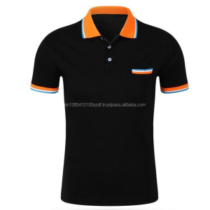 Summer Fashion Men's Short Sleeve Polo Collar Work T-shirt