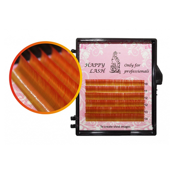 Bicolor Gold-Red Lashes Lovely MINI- 6 Lines - MIX