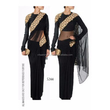 Étnicas exclusivo designer <span class=keywords><strong>saree</strong></span> Indiano últimas preto