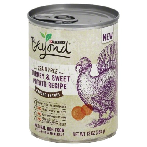 Purina Beyond No Grain Turkey and Sweet Potato Recipe Ground Entree Dog Food (6-cans) ,13 ounce each can)