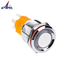 Hohe runde antrieb 16mm led push button schalter 10A momentary rast typ