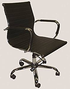 """Marquis Office Chair Overall Dimensions: 21.5""""W X 24.5""""D X 35-37.5""""H Back Height: 18"""" Seat Size: 20""""W X 18""""D - Black Vinyl"""
