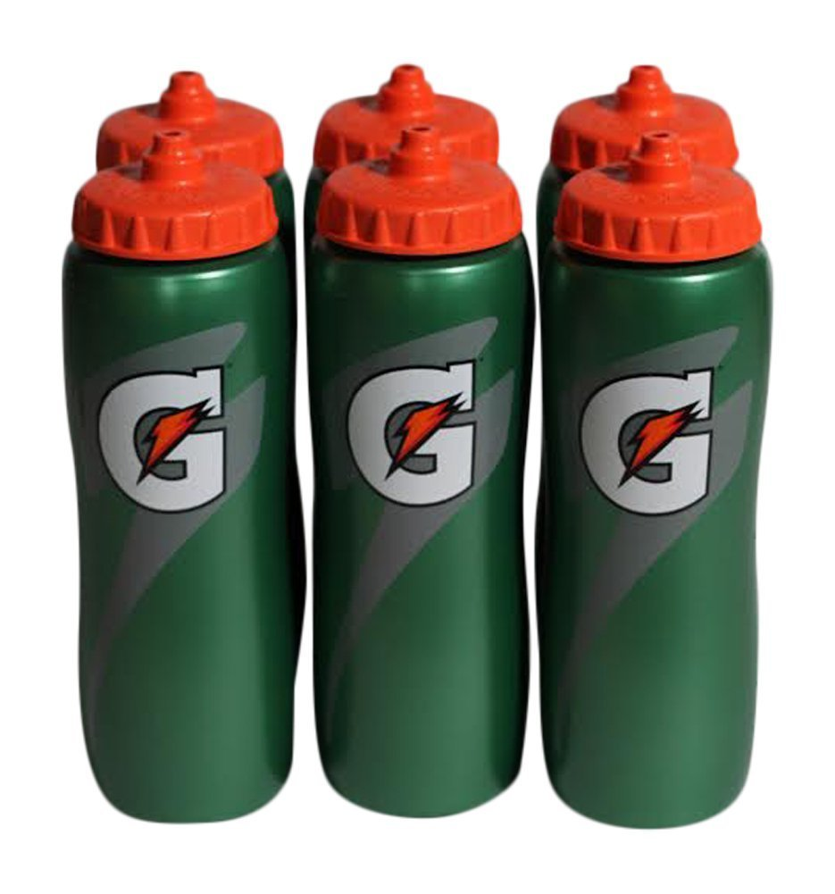 090689ccda Get Quotations · Gatorade 32 Oz Squeeze Water Sports Bottle - Value Pack of  6 - New Easy Grip