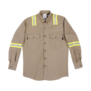 FR Cotton Long Sleeve Shirt Work Wear Uniform Protective Clothing