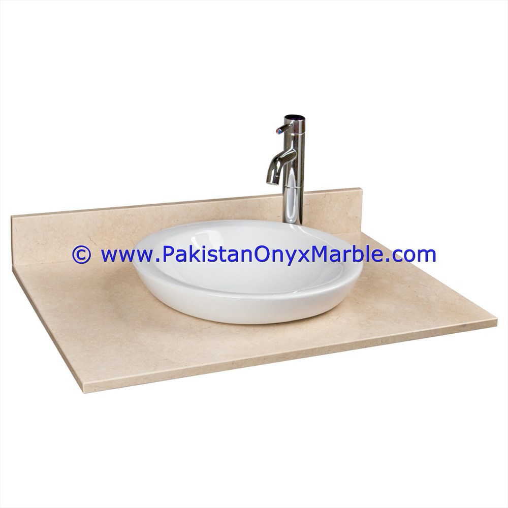 Dining room marble vanity top for rectangular square rounds sinks modern design styles decor home bathroom beige marble