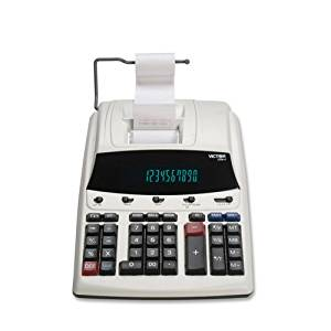 "12-Digit Calc, 2-Color Printing, 8-1/2""x12""x2-1/5""WE/BE, Sold as 1 Each - VICTOR TECHNOLOGY 12-Digit Calc, 2-Color Printing, 8-1/2""x12""x2-1/5""WE/BE"