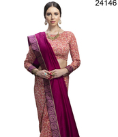 gujarati fancy sarees blouses design