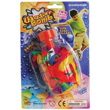 WATER BALLOON BOMBS W/FILLER/100-BG #GS683