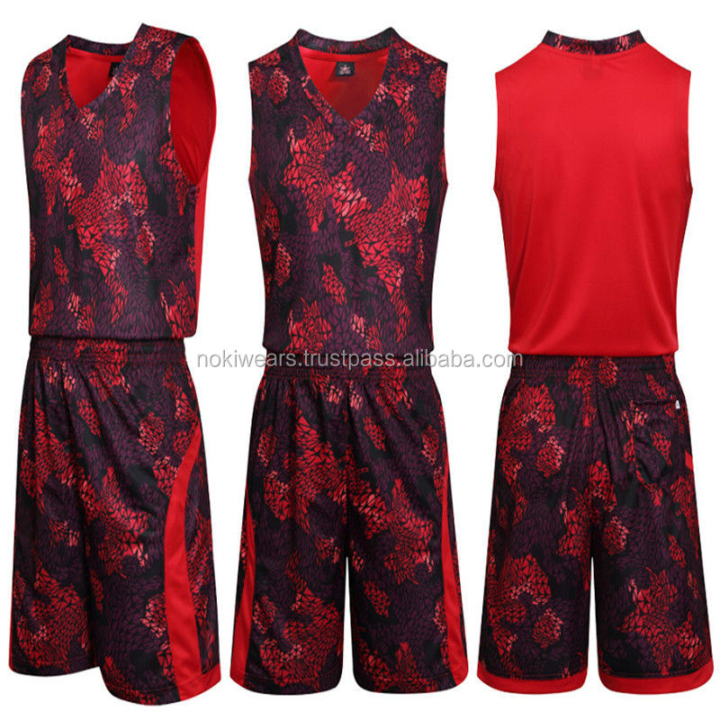 fe4a7d144 Cool Blood Red Sublimation Design basketball Uniform   Customized  Basketball Jerseys   At Noki