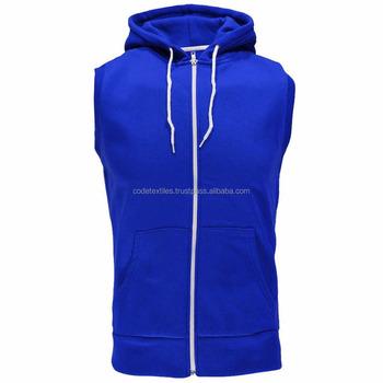 c3f04c539789a0 New 2017 custom mens plain gym stringer sleeveless hoodie Side Zipper Hoodie  Long line Custom
