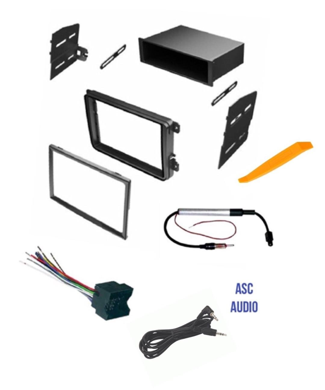 Get Quotations · ASC Car Stereo Radio Dash Kit, Wire Harness, and Antenna  Adapter for VW Volkswagen