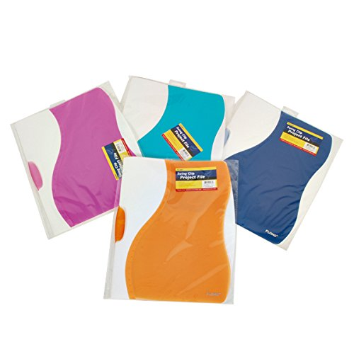 FLOMO Swing Clip Project File (4 Files) project view folders, file pack, project sleeves, project jacking, project file jacket, color folders with pockets, plastic folders,