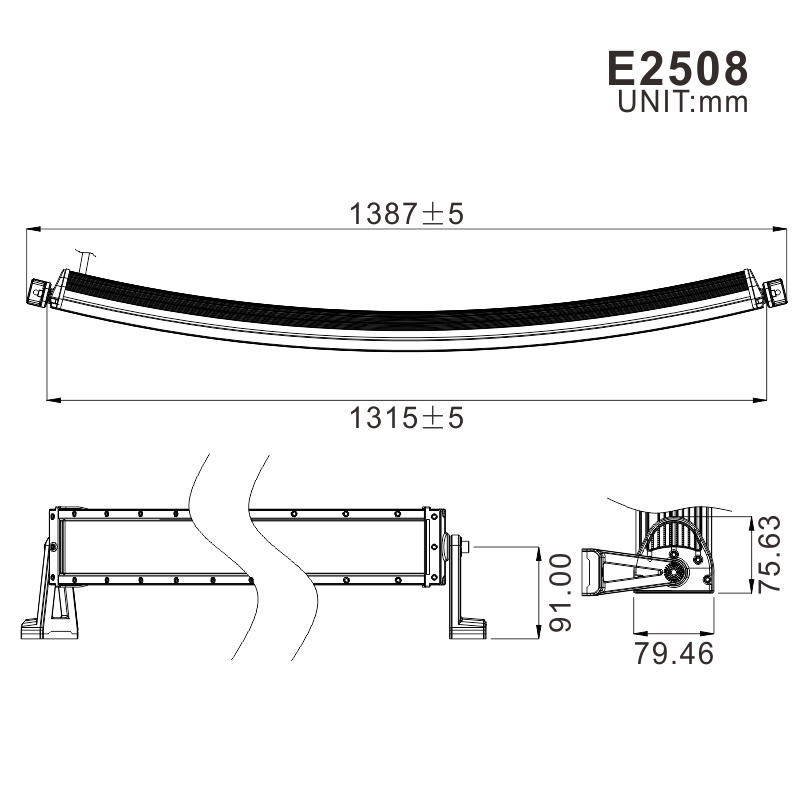 Wholesale Curved 300w 52 inch led light bar for jeep