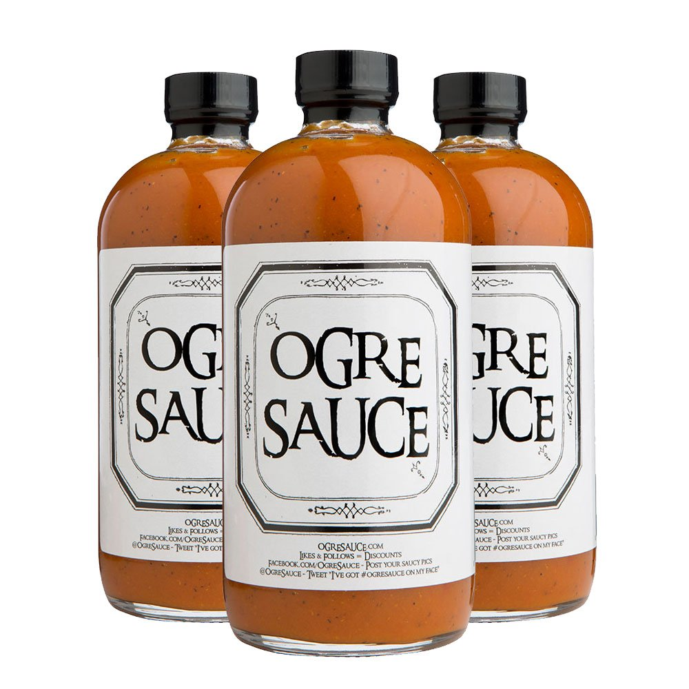 BBQ sauce 3 Pack - Ogre Sauce - All-Purpose Craft Barbecue Sauce - Award Winning BBQ Sauce - Grilling Sauce - Smoking Sauce - BBQ Sauce Gift Sets - Rib Sauce - Best BBQ Sauce - Carolina BBQ Sauce
