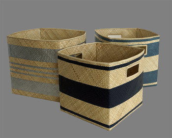 Merveilleux HIGH QUALITY ETHNIC SEAGRASS COLORED STORAGE BASKETS