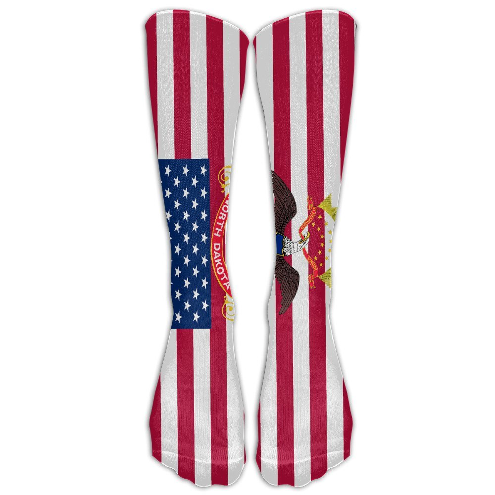 Cyprus Flag With America Flag Casual Socks Crew Socks Crazy Socks Soft Breathable For Women Sports Athletic Running