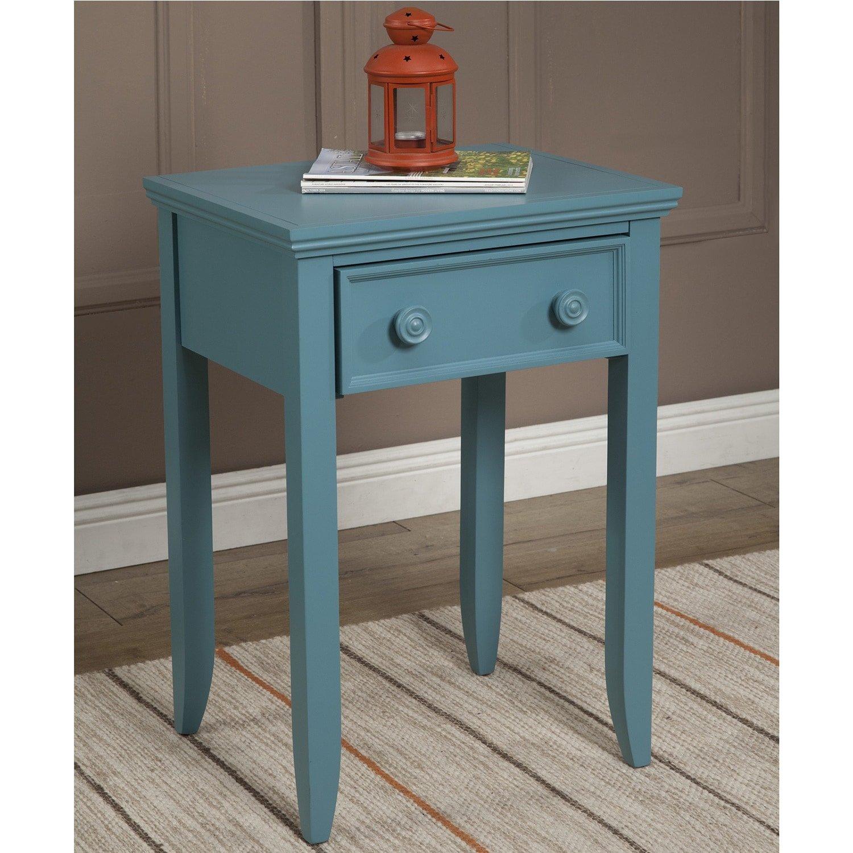 JOHN BOYD DESIGNS Notting Hill Night Stand 4 Legs 1 Drawer Blue