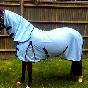 Horse fly rug combo attached neck cover choice of colors