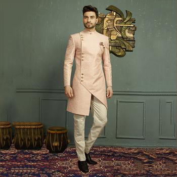 c299faef2a Latest Designer Wedding Wear Jacquard Mens Sherwanis Wholesale Collection