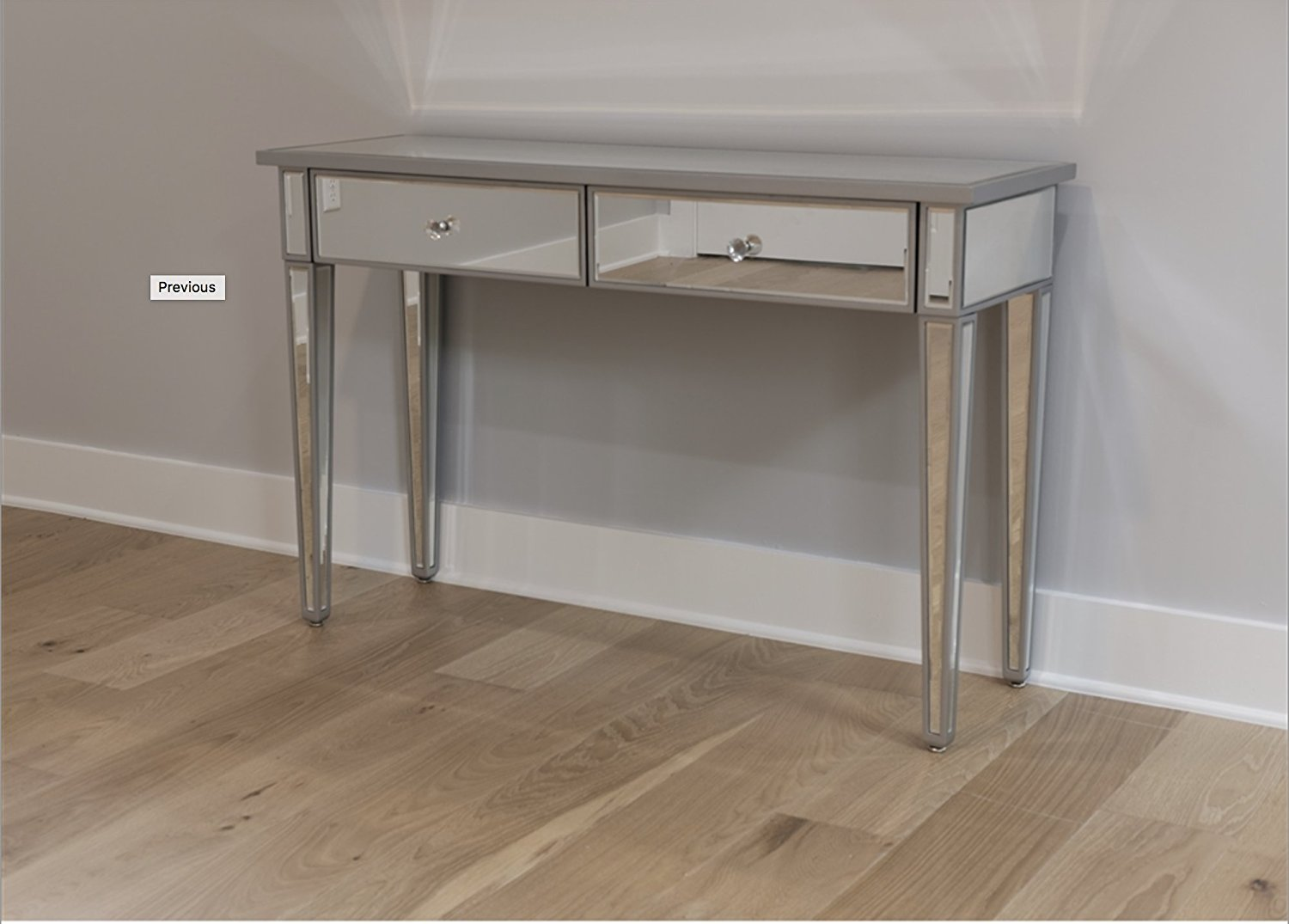 Buy Regency Mirrored Console Table Console Vanity Gold ...