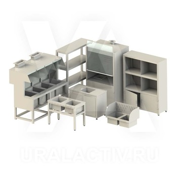 Laboratory furniture made of polypropylene