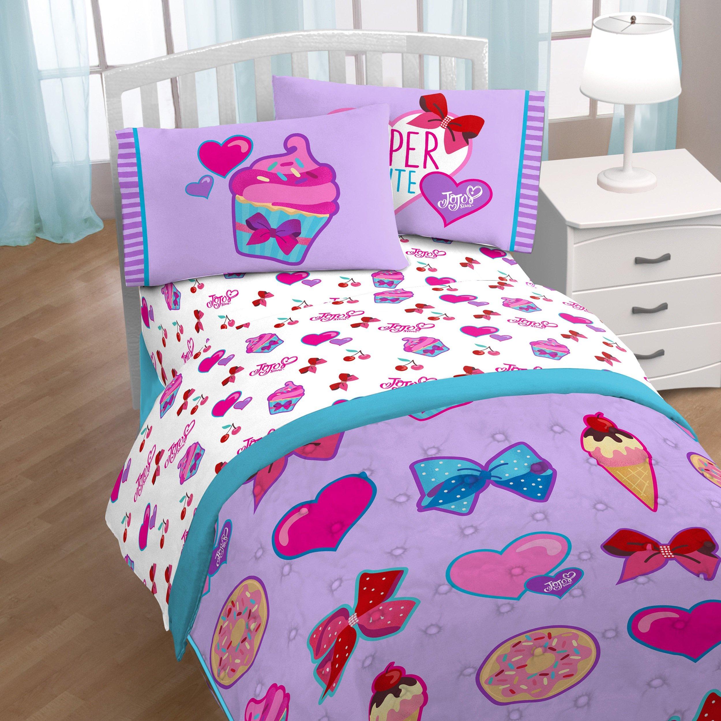 Nickelodeon JoJo Siwa Bowlicious 3 Piece Twin Sheet Set (Official JoJo Siwa Product)