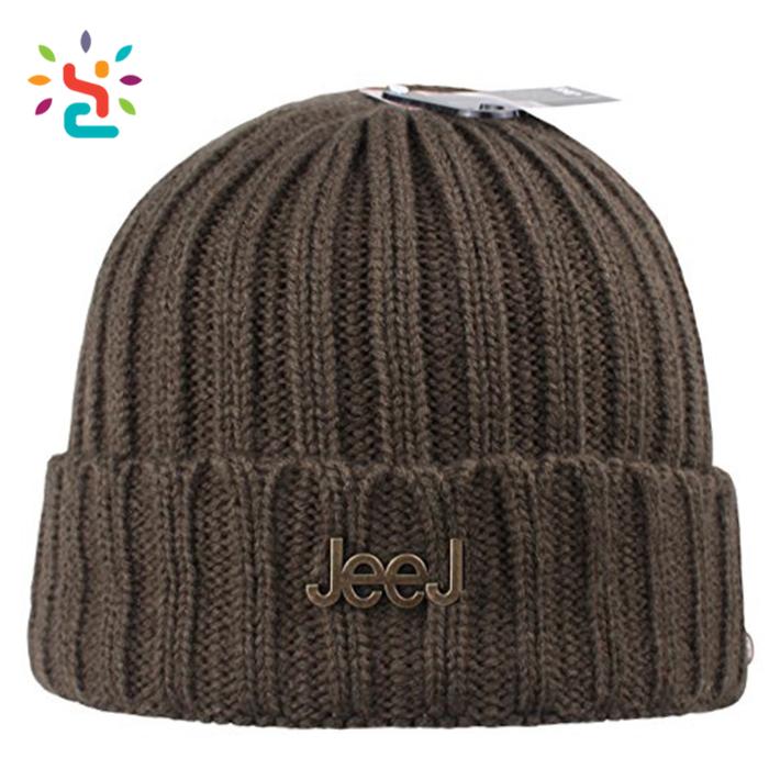 Black hype A-4 Watch Caps touca custom metal patch cute winter acrylic  beanie Knit mens Warm Ski Crochet Slouch Hat 31cc54954c7